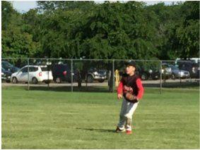 Photo of Antigo Stallions Traveling Baseball Player Catching Baseball